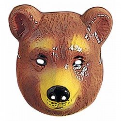Careta de oso infantil de plástico - Imagen 1