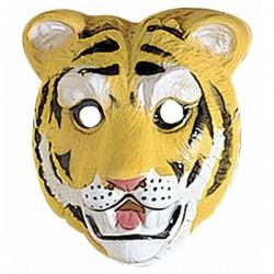 Careta de tigre infantil de plástico - Imagen 1