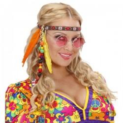 Cinta de hippie con cuentas y plumas - Imagen 1