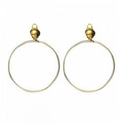 Pendientes de aro dorados - Imagen 1