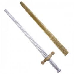 Espada de caballero plata y bronce - Imagen 1