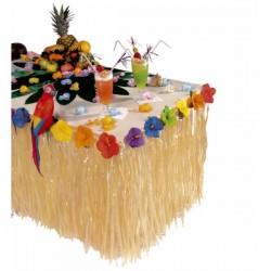 Decoración de mesa hawaiana con flores - Imagen 1