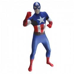 Disfraz de Capitán América Classic Morphsuit - Imagen 1