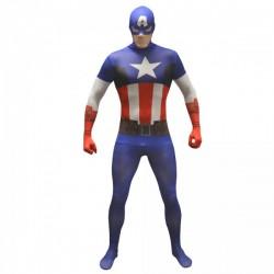 Disfraz de Capitán América clásico Morphsuit - Imagen 1