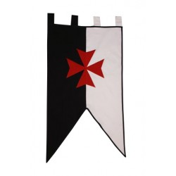 Estandarte medieval Templario de guerra - Imagen 1