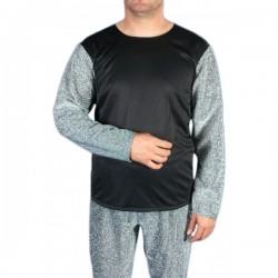 Camisa medieval de plata para hombre - Imagen 1