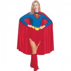 Disfraz de Supergirl capa larga - Imagen 1