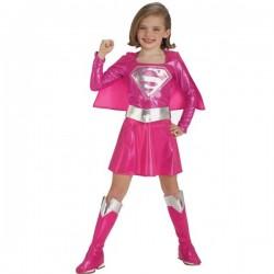 Disfraz de Supergirl rosa niña - Imagen 1