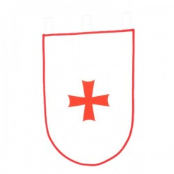 Estandarte medieval para guerra 50 x 70 cm - Imagen 1
