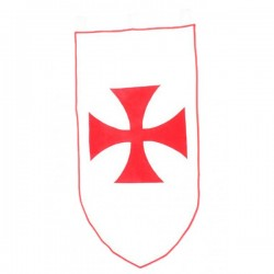 Estandarte medieval luchador 75 x 135 cm - Imagen 1