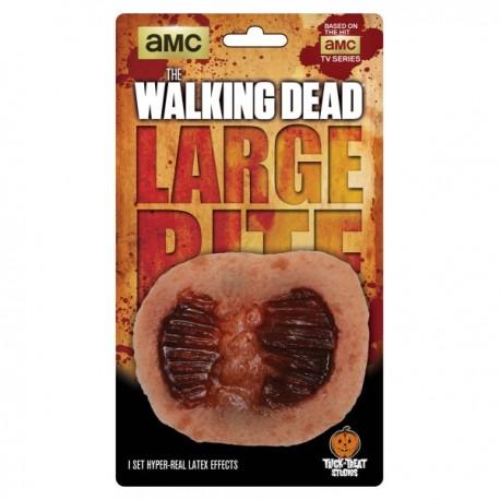 Prótesis de mordisco desgarrado The Walking Dead de látex - Imagen 1