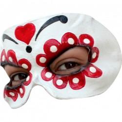 Media máscara de Catrina de látex - Imagen 1