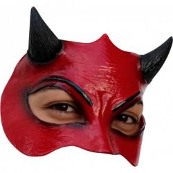 Media máscara de Demonio de látex - Imagen 1