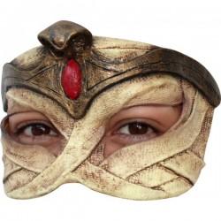 Media máscara de Momia Egipcia de látex - Imagen 1