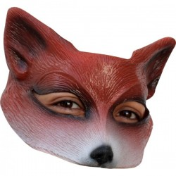 Media máscara de Zorro de látex - Imagen 1