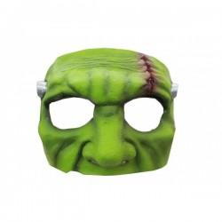Media máscara de Monstruo verde de látex - Imagen 1