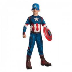 Disfraz de Capitán América Classic Los Vengadores II La Era de Ultrón para niño - Imagen 1