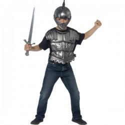 Kit disfraz caballero medieval para niño - Imagen 1