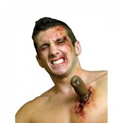 Prótesis de látex cuchillo gigante clavado - Imagen 1