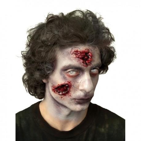 Prótesis de látex mordeduras de zombie - Imagen 1