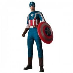 Disfraz de Capitán América: el Soldado de Invierno musculoso para hombre - Imagen 1