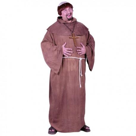 Disfraz de monje medieval para hombre talla grande - Imagen 1