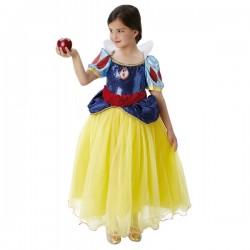 Disfraz de Blancanieves prestige para niña - Imagen 1