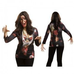 Camiseta de zombie girl para mujer - Imagen 1