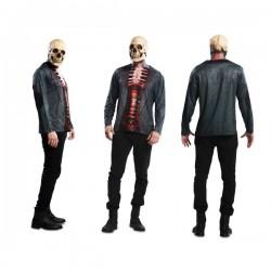 Camiseta de esqueleto sangriento para hombre - Imagen 1