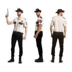 Camiseta de Rick Walking sheriff de Atlanta para hombre - Imagen 1