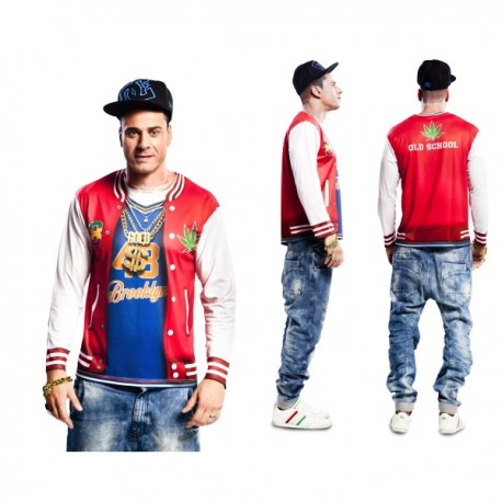 Camiseta de rapero de barrio para hombre - Imagen 1