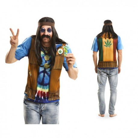 Camiseta de hippie festivalero para hombre - Imagen 1