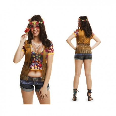 Camiseta de hippie festivalera para mujer - Imagen 1
