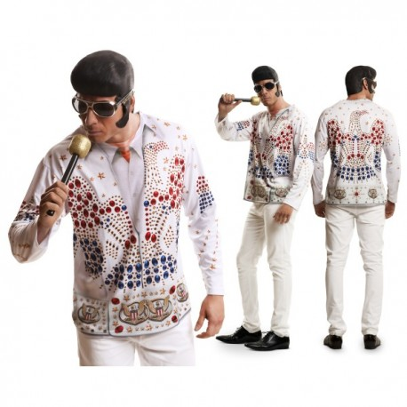 Camiseta Elvis Rey del rock n' roll para hombre - Imagen 1