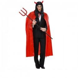 Capa roja fina larga para hombre - Imagen 1