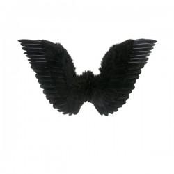 Alas negras con plumas para mujer - Imagen 1