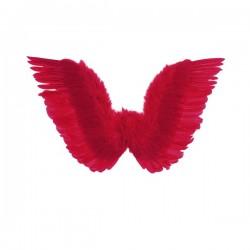 Alas rojas con plumas para mujer - Imagen 1