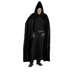 Capa negra con capucha para adulto - Imagen 1