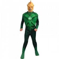 Disfraz de Tomar-Re musculoso Linterna Verde niño - Imagen 1
