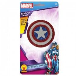Tatuaje l Capitán América Marvel para niña - Imagen 1