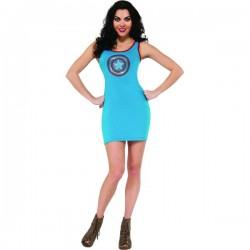 Vestido disfraz Capitán América Marvel para mujer - Imagen 1