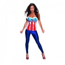 Corsé Capitán América Marvel classic para mujer - Imagen 1