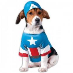 Disfraz de Capitán América para perro - Imagen 1