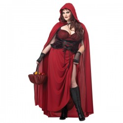 Disfraz de Caperucita roja tenebrosa para mujer talla grande - Imagen 1