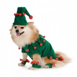 Disfraz de elfo navideño para perro - Imagen 1