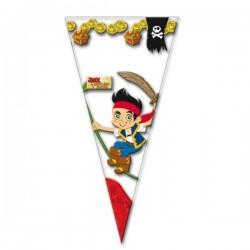 Set de 10 bolsas de cono gigantes Jake y los piratas del nunca jamás - Imagen 1