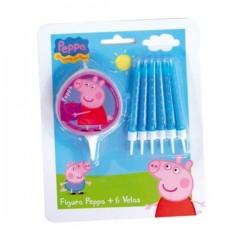 Velas cumpleañeras Peppa Pig - Imagen 1