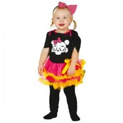 Disfraz de esqueleto colorido para bebé - Imagen 1