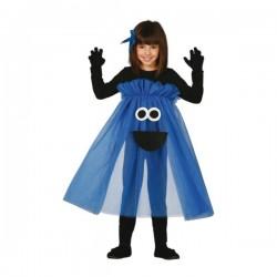 Disfraz de monstruo azul tutú para niña - Imagen 1