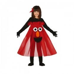Disfraz de monstruo rojo tutú para niña - Imagen 1